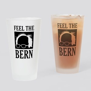 Feel the Bern [Hair] Drinking Glass